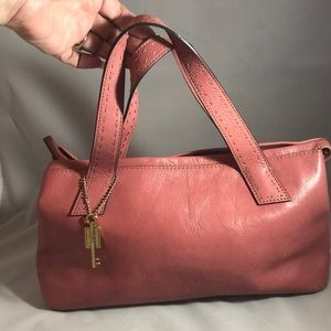 Fossil pink leather satchel